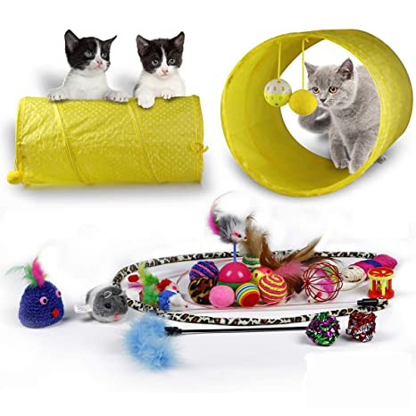 Amazon.com: Juguetes de gatos gatito Juguetes Variedad Pack ...