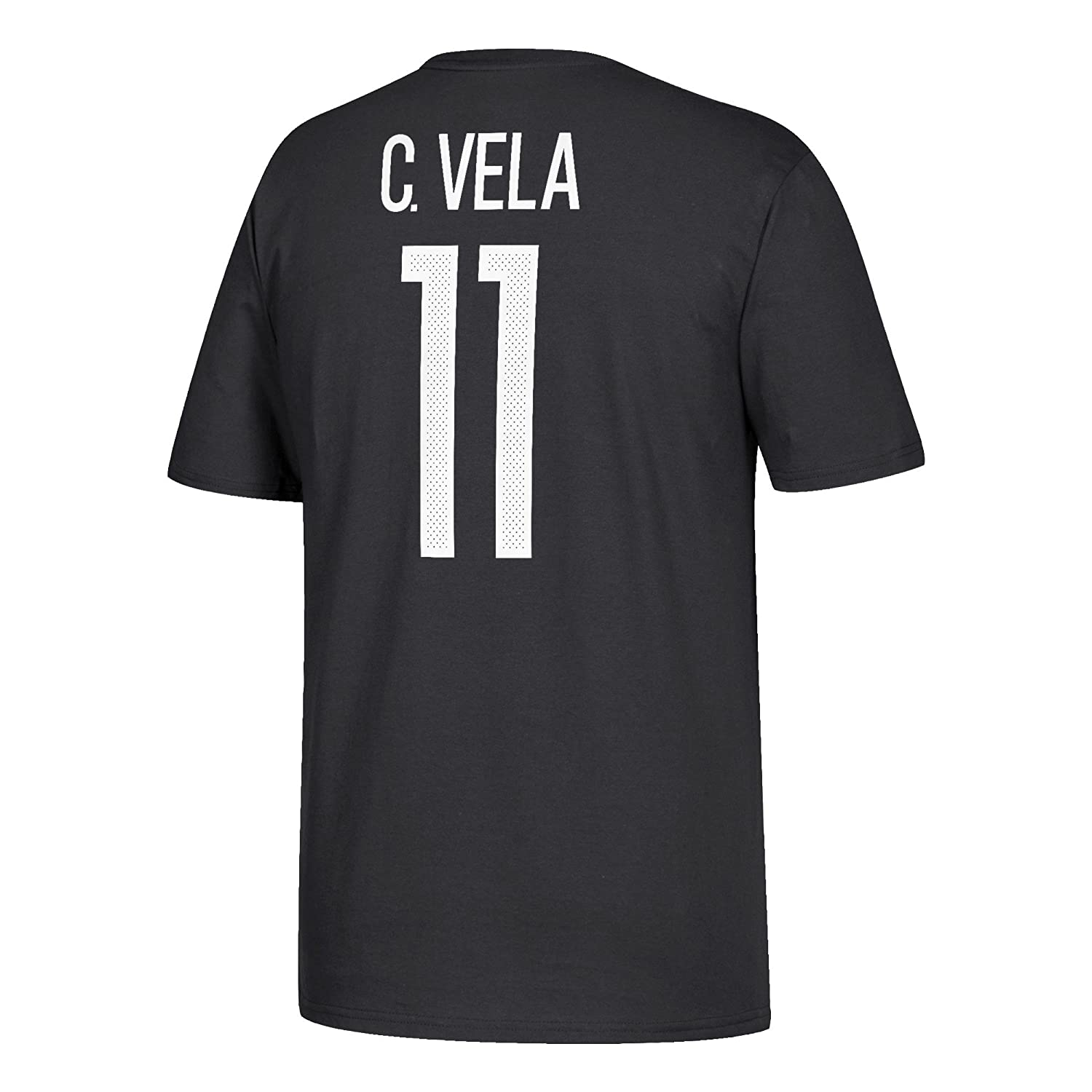 af2721be2c3 Amazon.com   adidas Carlos Vela Mexico World Cup Men s Black Name and Number  T-shirt Small   Sports   Outdoors