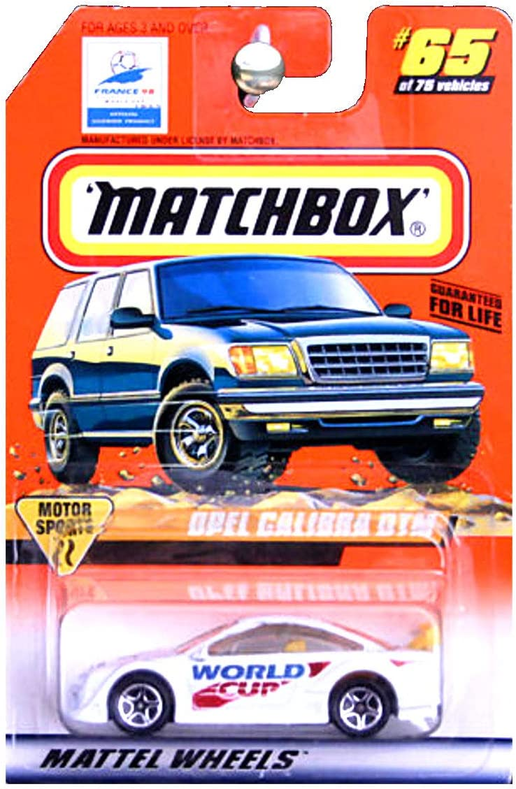 MATCHBOX CAR - France 98' - WORLD CUP (Soccer) - Opel Calibra DTM - 1:64 Scale - #65 of 75 / Series 9