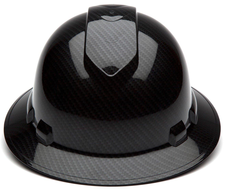 Gray Pyramex Ridgeline Full Brim Hard Hat 4-Point Ratchet Suspension