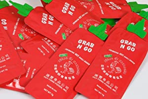 Huy Fong Grab N Go Original Sriracha HOT Chili Sauce, 50 Pack, 7g each