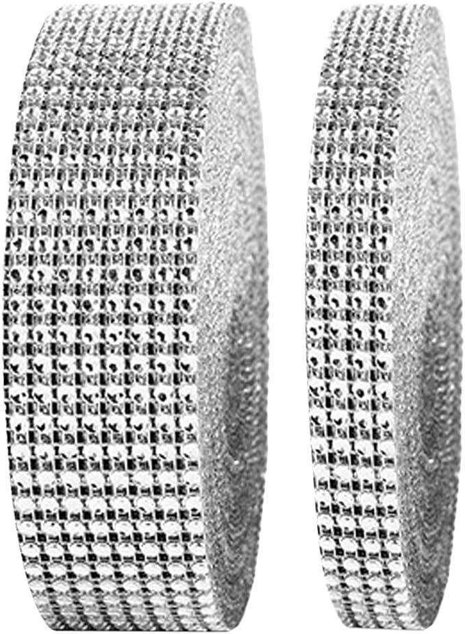 2 M x 8 rangs .RUBAN STRASS ARGENT 4cm décoration de salle mariage fêtes bijoux