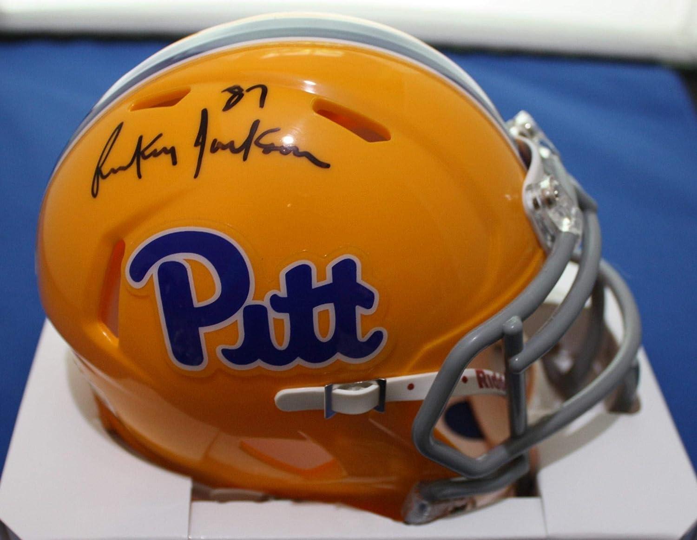 Autographed Rickey Jackson University of Pittsburgh Pitt Mini Helmet w/COA - Autographed College Mini Helmets