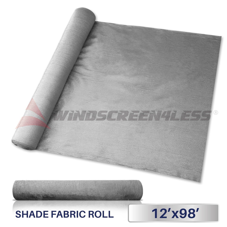 Windscreen4less Light Grey Sunblock Shade Cloth,95% UV Block Shade Fabric Roll 12ft x 98ft by Windscreen4less