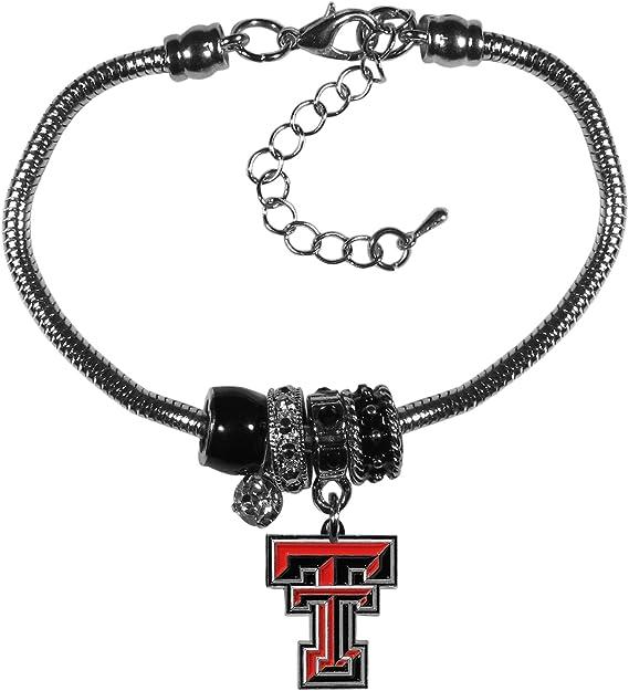 Siskiyou NCAA Womens Euro Bead Bracelet