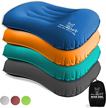 Amazon.com: Wise Owl Outfitters - Almohada inflable de aire ...