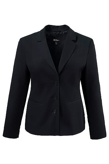 damen blazer schwarz größe 60