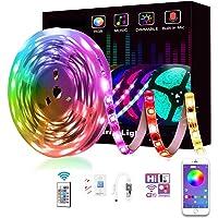 شريط اضاءة ليد ذكي 300 ليد بالوان RGB وتحكم عن بعد بواسطة تطبيق، متوافق مع اليكسا وجوجل هوم بخاصية مزامنة ايقاع الموسيقى…