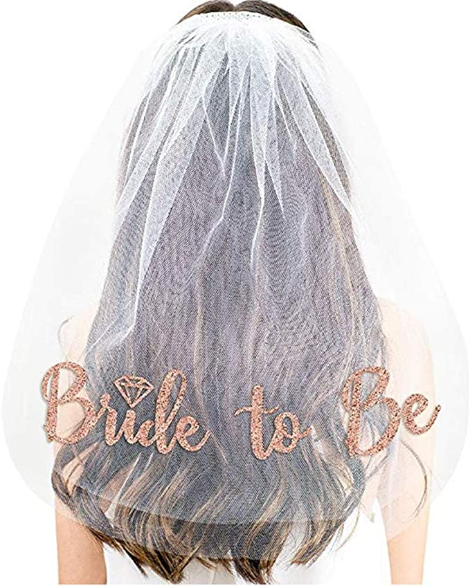 BRIDE TO BE VEIL HEN DO NIGHT PARTY ACCESSORIES BACHELORETTE *FREE* PP
