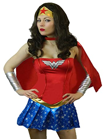 Yummy Bee Wonder Woman Superhero Costume Plus Size 6 18 Red