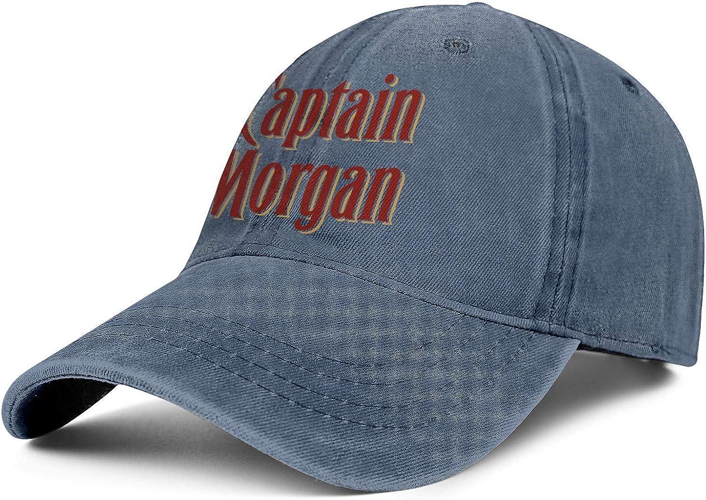 Adjustable Retro Summer Hats Baseball Washed Dad Hat Cap Bombline Mens Womens Captain-Morgan-Logo