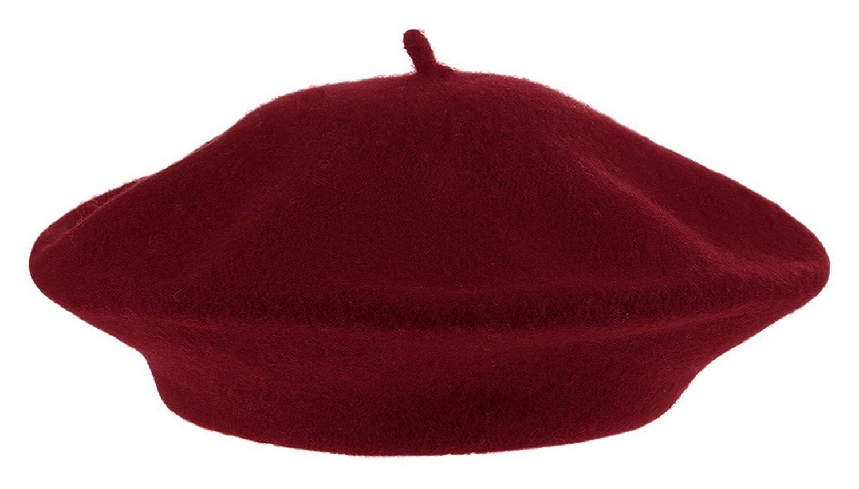GEMVIE Damen Baskenmütze Barett Wintermütze Warm Kopfumfang 58cm
