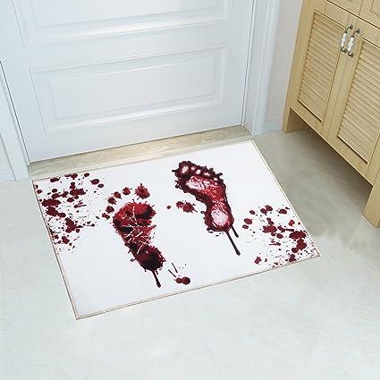 Amazon.com : YJ.GWL Halloween Blood Doormat Welcome Door Mat Rug ...