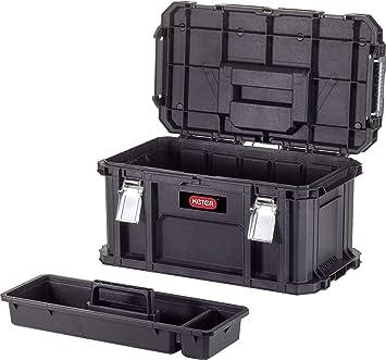 Keter Connect tool - Caja de herramientas, color negro y rojo: Amazon.es: Bricolaje y herramientas