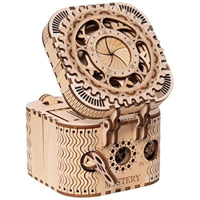 ROKR Puzzle Box 3D Wooden Puzzle Model Kits for Adults: Toys & Games