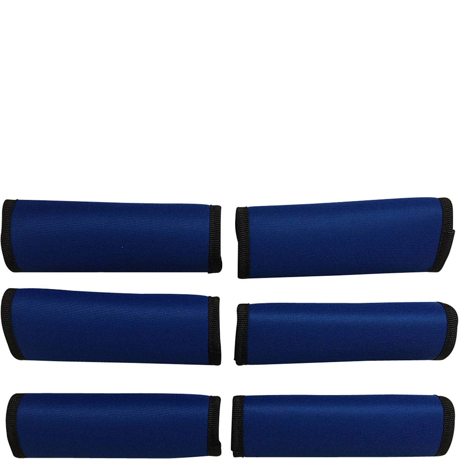 50% OFF! LUGGAGE SPOTTER SUPER GRABBER - 6 ROYAL BLUE Soft Comfort Neoprene Handle Wrap Grip Luggage Identifier for Travel Bags Suitcases Heavy Grocery Bags Wraps Around Just About Anything!