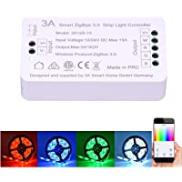 3A Nue 12 / 24V DC Smart ZigBee RGBW RGB Strip Light Controller Switch for Normal Strip Light Automation and Alexa…