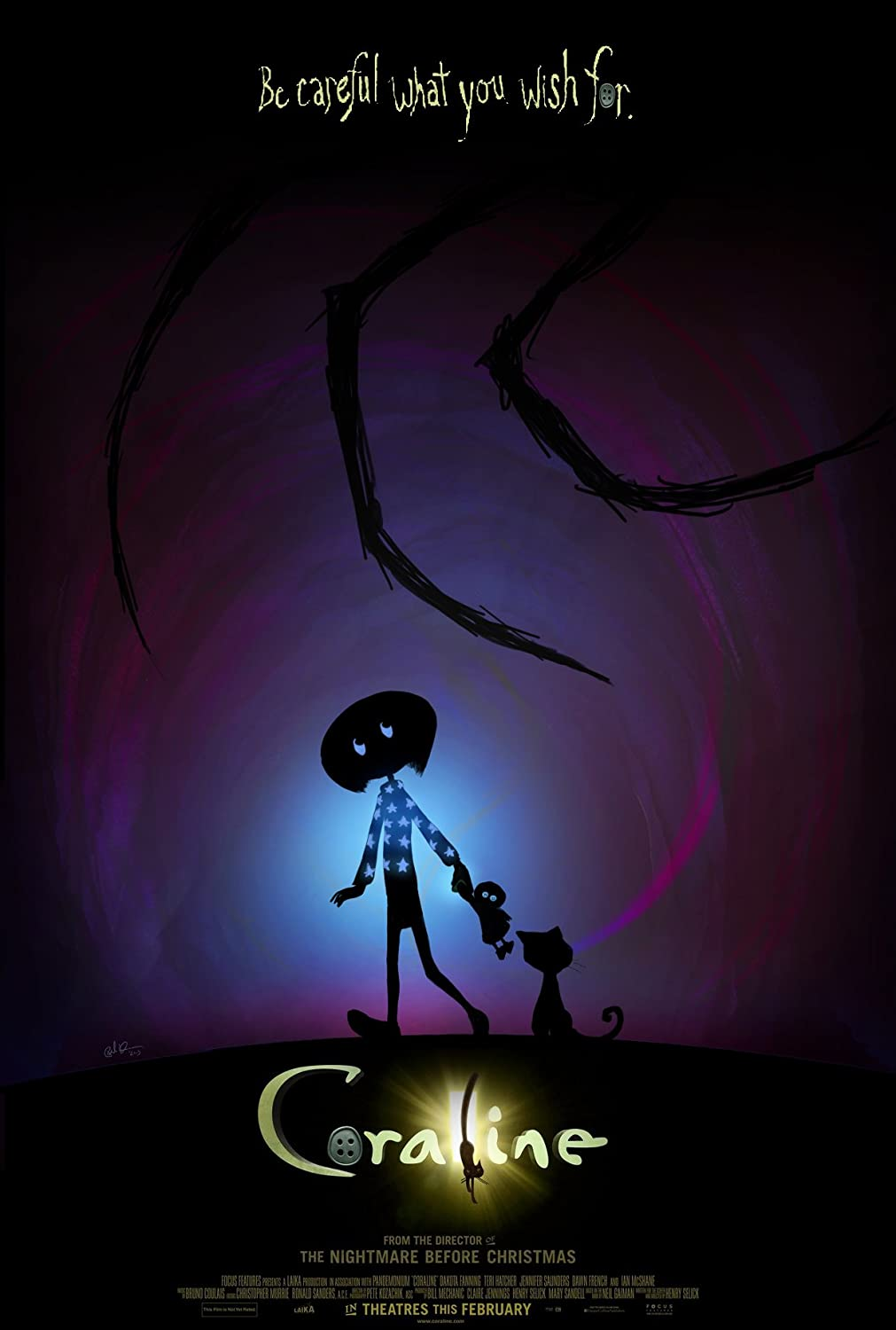 Amazon Com Movie Poster Coraline Poster Approx Size 11x8 Inches Posters Prints