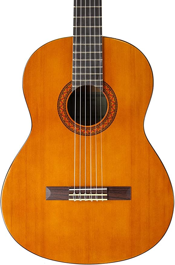 Yamaha cgs104 a tamaño completo guitarra clásica paquete con funda rígida, sintonizador, Instructional DVD, cuerdas, Pick tarjeta, y gamuza de microfibra), color natural: Amazon.es: Instrumentos musicales