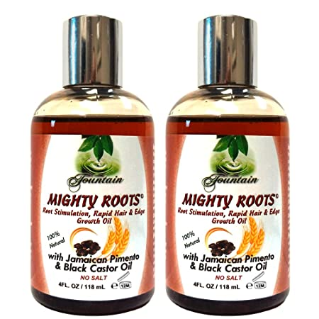 Fountain Mighty Roots With Jamaican Pimento Black Castor Oil 4 Fl Oz Pack of 2
