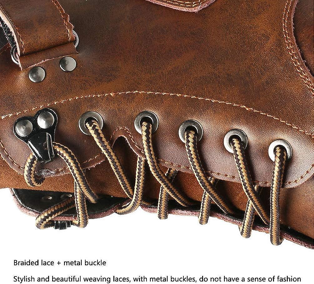 KAIDILA Mens Chelsea Scarpe Stivali Impermeabili Alla Caviglia in Pelle Classico Pizzo-Up Completamente Allineato Pelliccia Nero Marrone Formato 38-44 Black