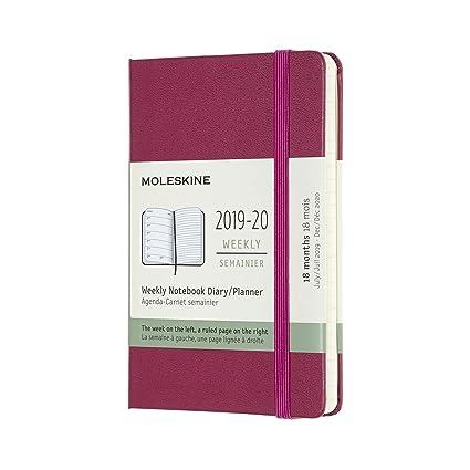 Moleskine 2019-20 Weekly - Agenda Cuaderno Semanal de 18 Meses ...