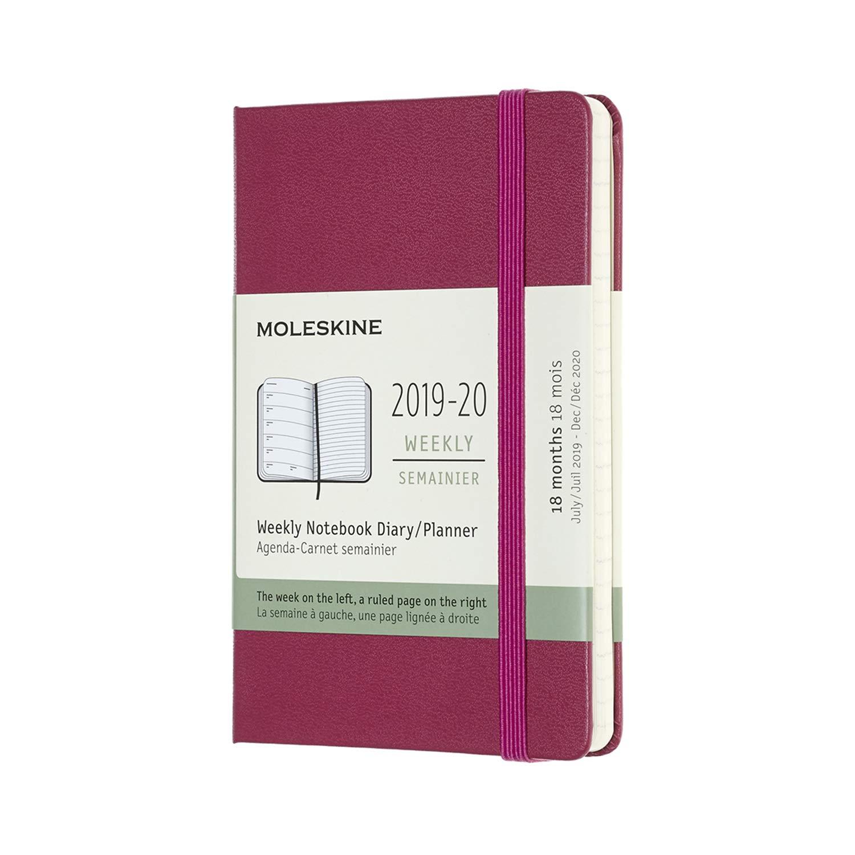 Moleskine : 2019-20 Semana/Mes Pocket Tapa Dura Rosa