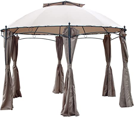 Carpa de aluminio Gotic hexagonal diámetro MT 3,50 cortina de jardín Pabellones exterior: Amazon.es: Hogar