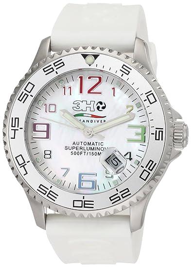 3H hombre 446 WC OCEANDIVER intercambiables banda reloj automático de acero inoxidable: Amazon.es: Relojes