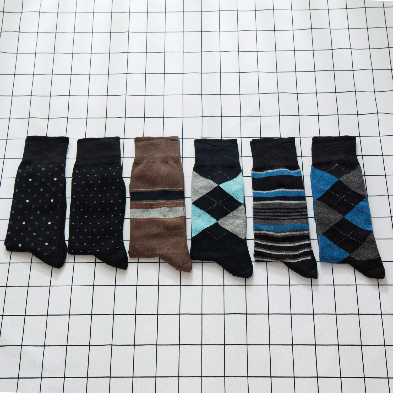 Modal Odor Resistant Cotton Business Dress Mens Crew Socks 6 Pack