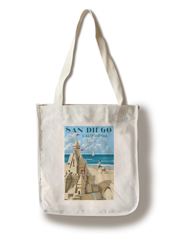 (訳ありセール 格安) San San Diego, California Canvas - Sandcastle Lantern (16x24 Giclee Gallery Print, Wall Decor Travel Poster) by Lantern Press B01841V1MW Canvas Tote Bag Canvas Tote Bag, ミシマグン:1b2e3146 --- mail.consumer1st.in