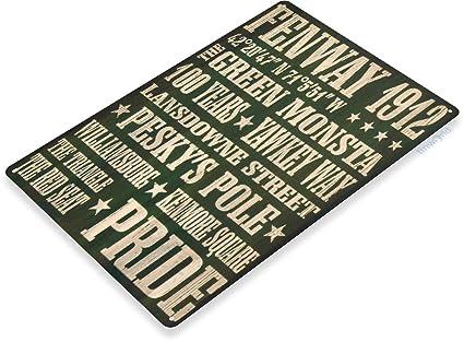 Tinworld Tin Sign Fenway Red Sox Rustic Retro Baseball Metal Sign Decor  Card Shop Cave Bar A365
