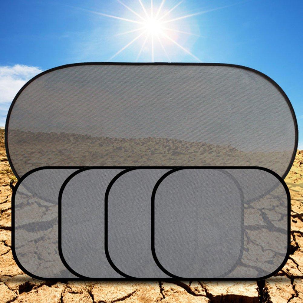 Gaweb Car Sun Shade Car Side Rear Window Screen Sunshade Windshield UV Protection Mesh Cover Visor by Gaweb (Image #2)