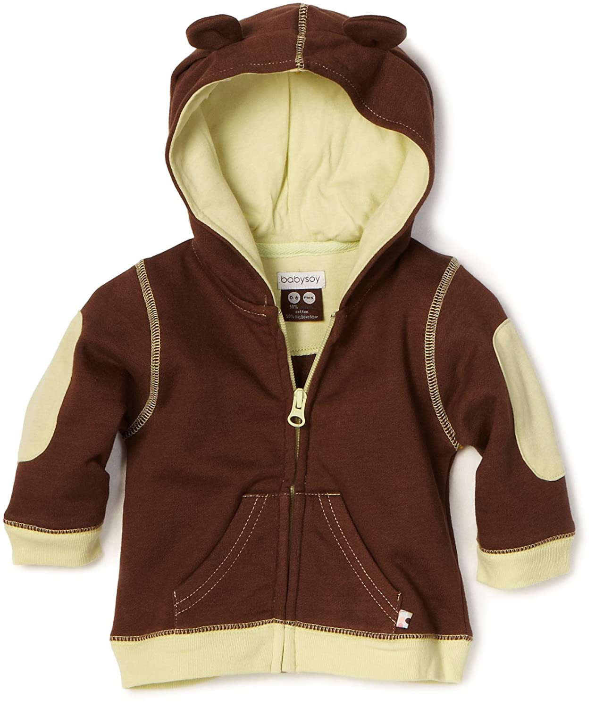 Babysoy Unisex-Baby Newborn Soft Fleece Hoodie Babysoy Inc 138BC