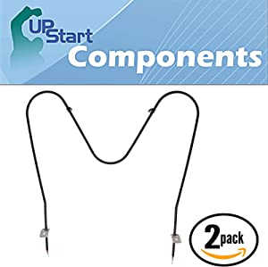 2-Pack Replacement for White Westinghouse WWEF3004KWC Bake Element - Compatible with White Westinghouse 316075104 Oven Heating Element