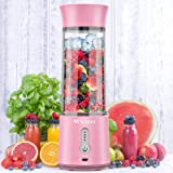 MOSUNECE Portable Blender, 17 Oz Personal Blender for Shakes and Smoothies, Fruit Juice, Mini Blender with Stainless Steel Si