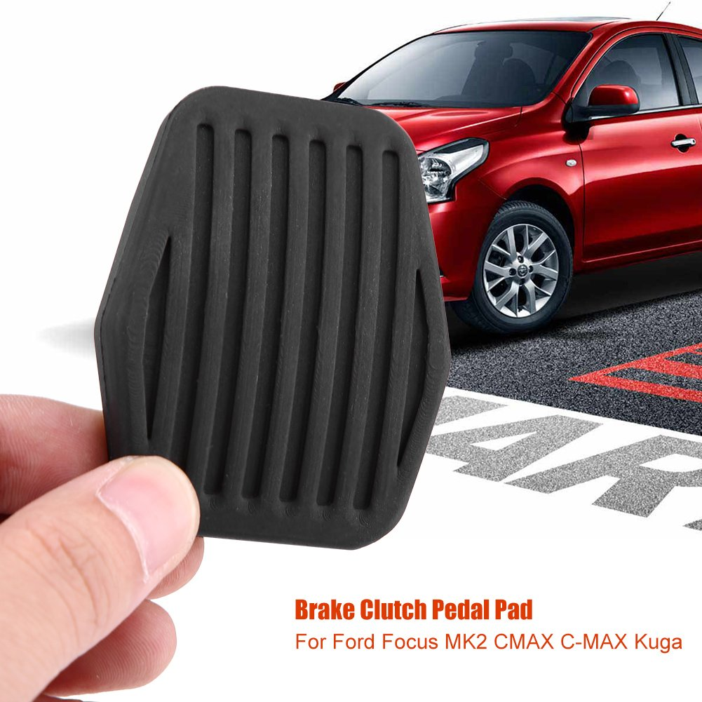 Amazon.com: Qiilu Auto Brake Clutch Pedal Rubber Pad for Ford Focus MK2 CMAX C-MAX Kuga 1234292 3M512457CA: Automotive
