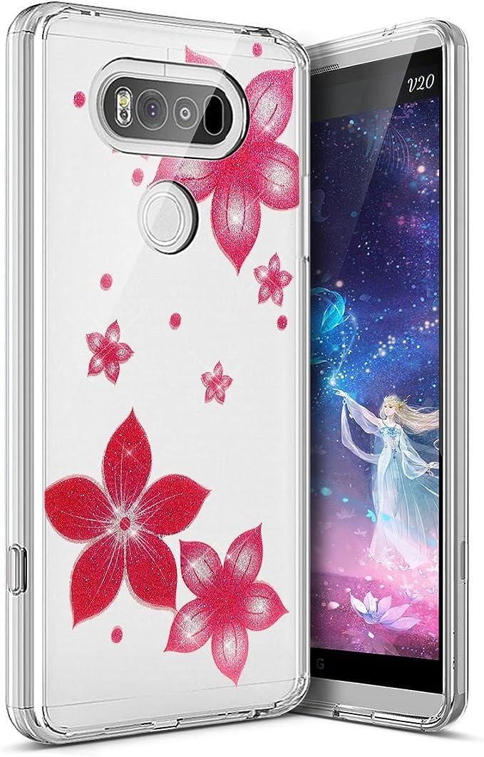 Surakey Funda Compatible para LG V20 Funda Glitter Funda ...