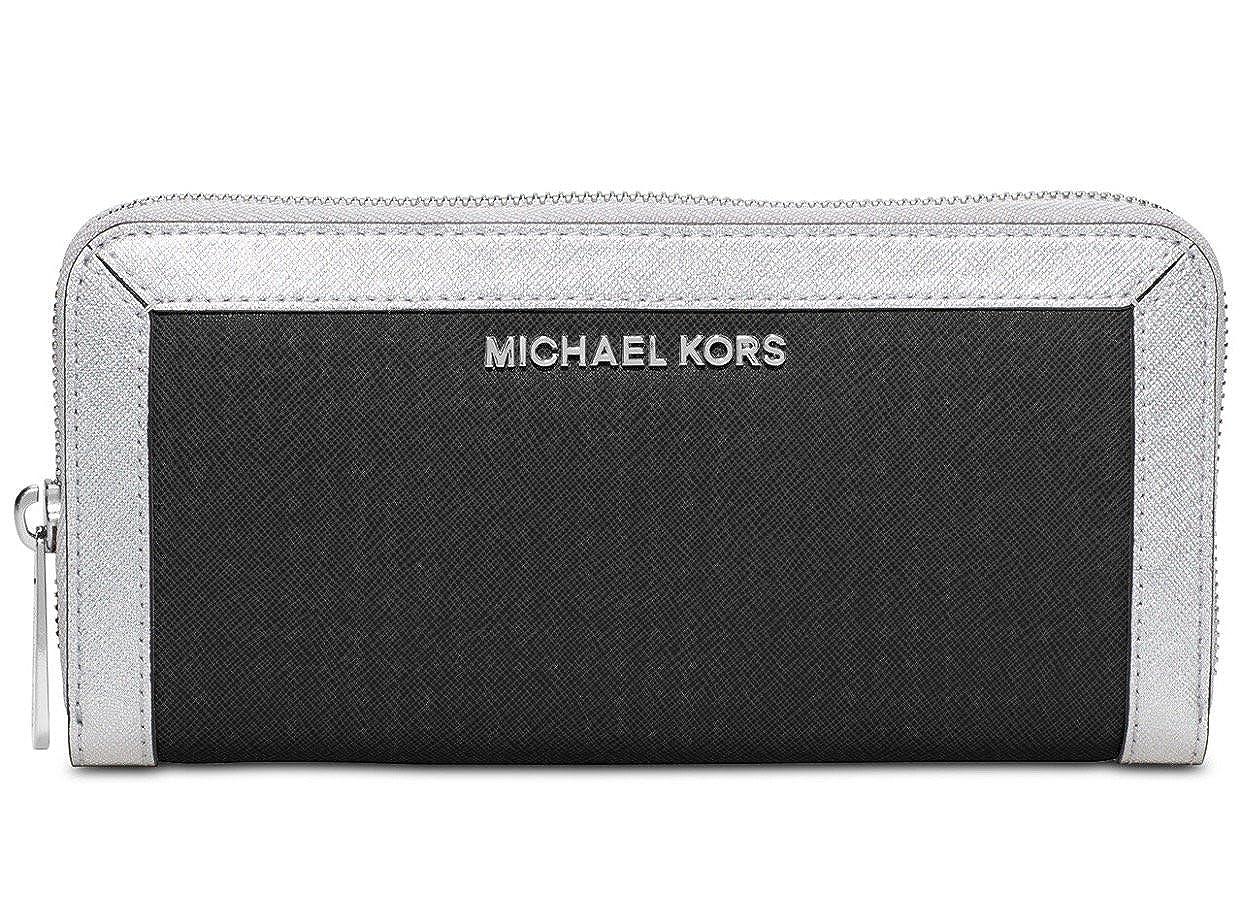445bbb0474bb Michael Michael Kors Jet Set Frame Out Zip Around Continental Wallet (Black):  Handbags: Amazon.com