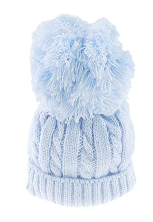 b4b77cb6c95 Super Soft Baby Girls Boys Warm Winter Chunky Cable Knit Pom Bobble Baby Hat  (0