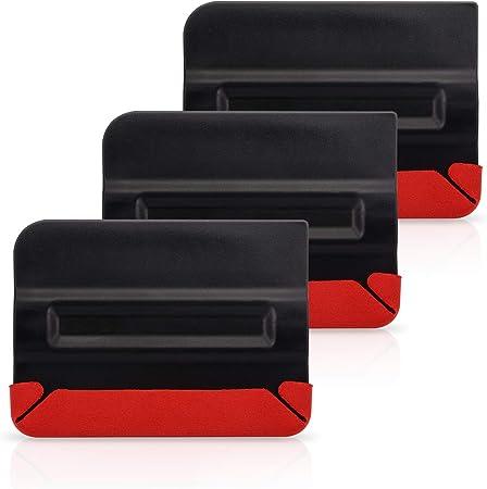Winjun Profi Magnet Rakel Filzrakel Mit Mikro Fein Buffer Filz Vinyl Wraps Folierungs Werkzeug Folie Verkleben Installation 3 Stück Per Paket Auto