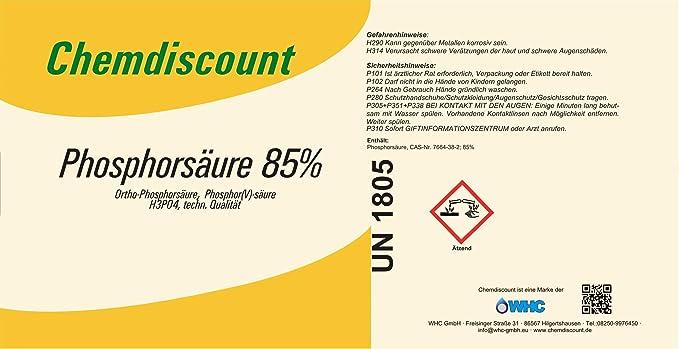 1liter Ca 1 6kg Phosphorsäure H3po4 85
