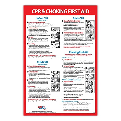 Amazon Cpr Choking First Aid Instructions Poster Infant