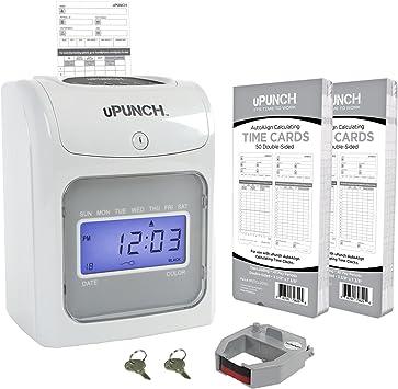 Employee Attendance Punch Time Clock Payroll Recorder LCD w// Free Card Ribbon VC