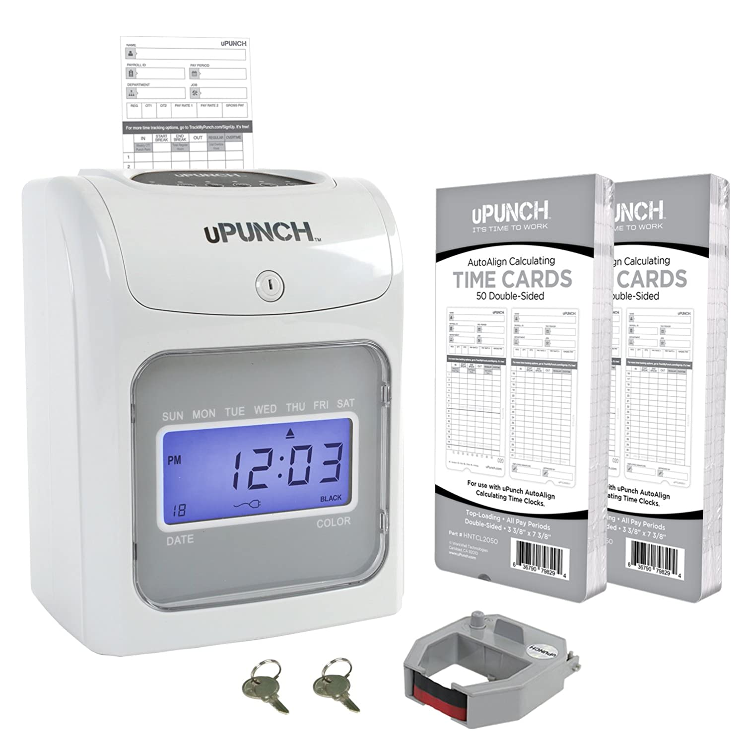 amazon com calculating upunch starter time clock bundle with 100