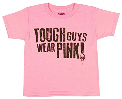 Amazon.com: Gildan Boy's Tough Guys Wear Pink Short Sleeve Graphic ...