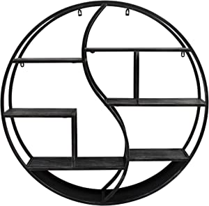 Christopher Knight Home Bobby Industrial Hanging Circular Wall Shelf, Gray Finish