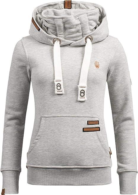 Navahoo Damen Hoodie Sweat Jacke Kapuzen Pullover Kordel Sport Sweater Damlaa