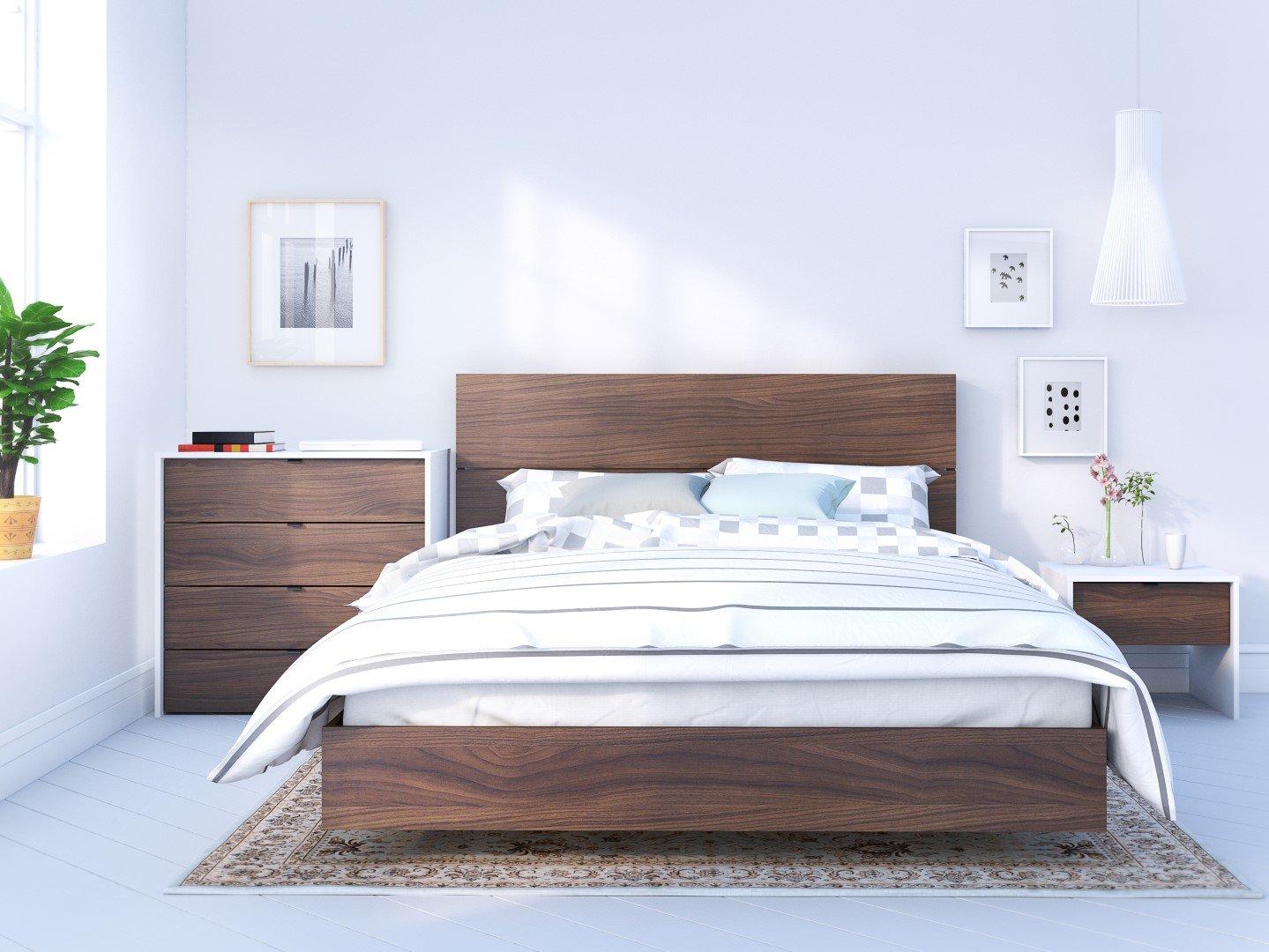 Amazon.com: Nexera Identi-T Queen Size Bedroom Set #400890 from ...