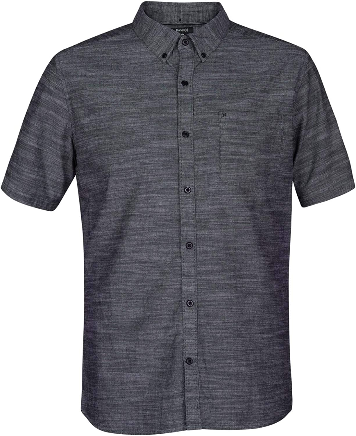 Hurley Men's One & Only Textured Short Sleeve Button Up: Clothing